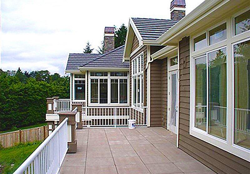 Lake Washington Custom Home Deck and Patio