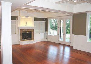 Lake Washington Custom Home family room designs