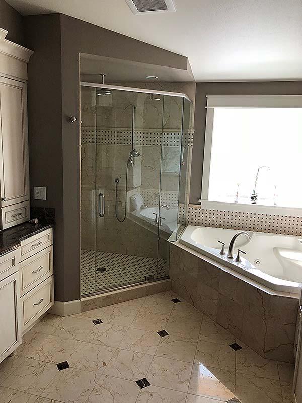 EDMONDS,WA. CUSTOM DESIGNER BATH AND SHOWER