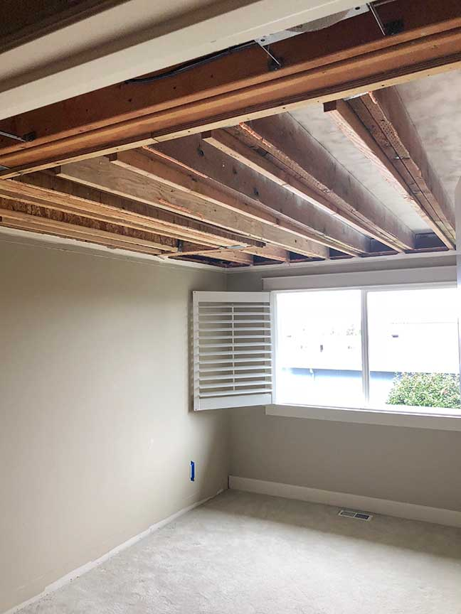 Ceiling Water Damage Repair In Edmonds, Wa,