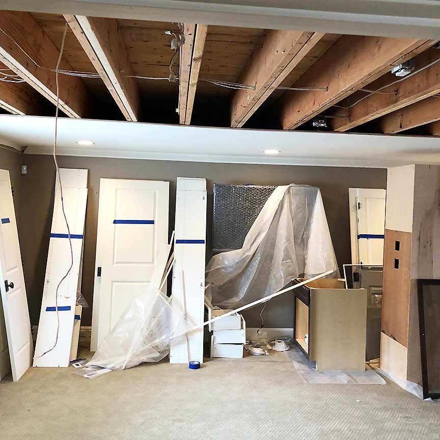 Ceiling and Floor Water Damage Repair In Edmonds, Wa,