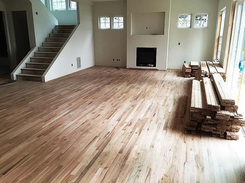 Langley, WA. Custom living room construction
