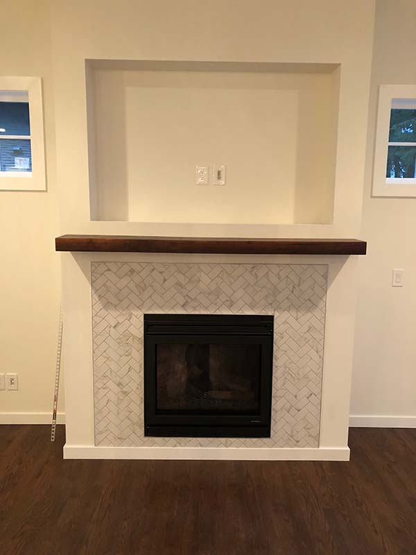 Langley Custom Home fire place designs