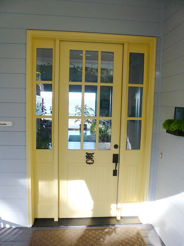 Langley, WA. Custom entrance design