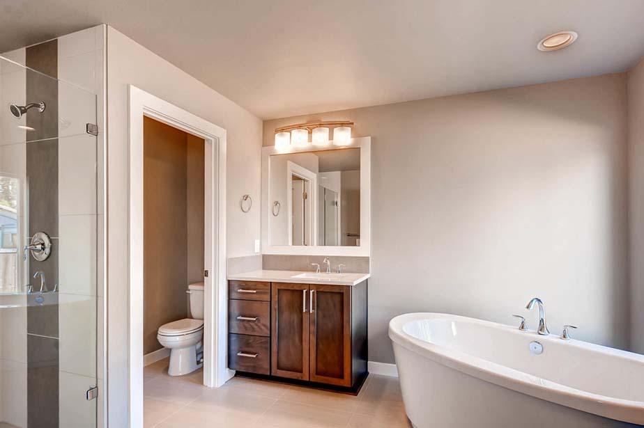Monroe Custom Home Custom Bathroom and Shower