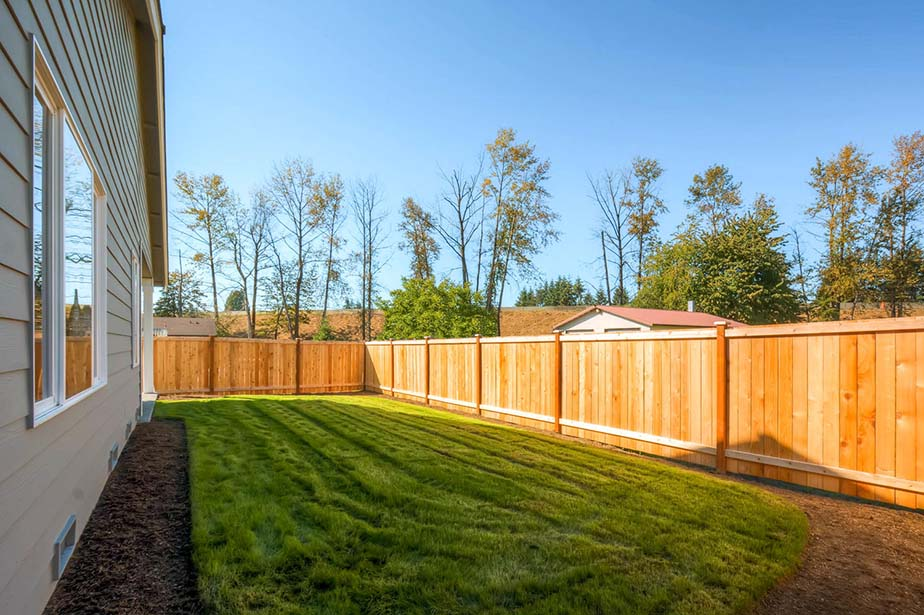 Fully Fenced Rear Yard Monroe, WA.