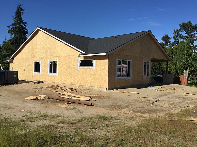 Monroe Custom Home under construction