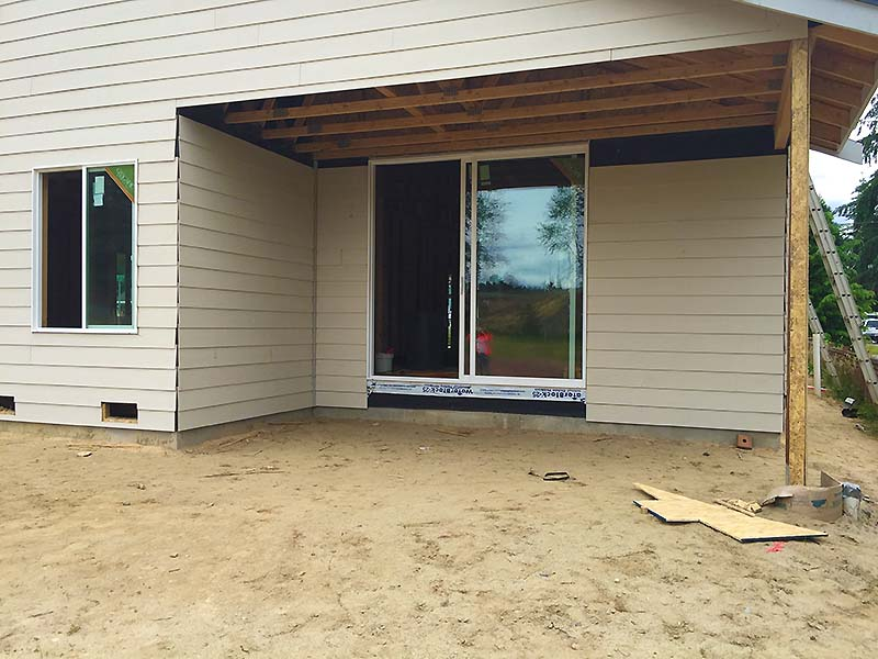 Monroe Custom Home Back Yard Construction