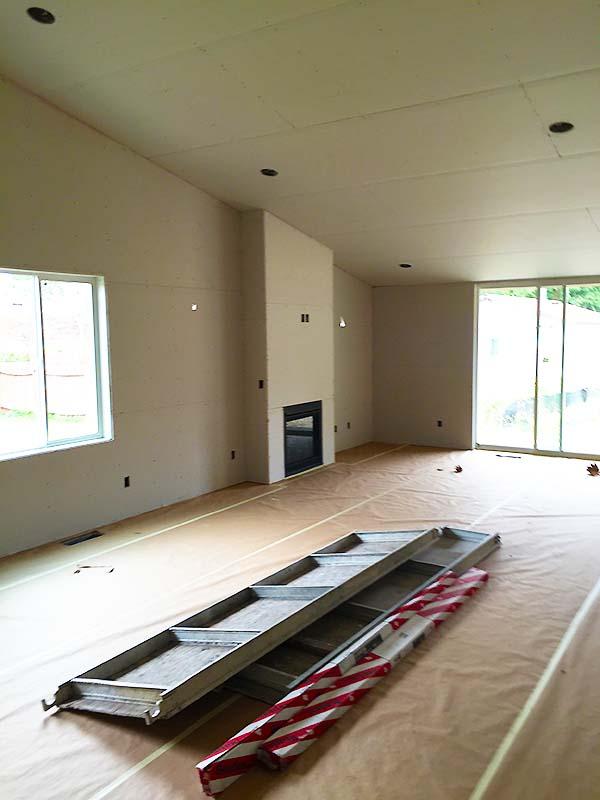 Custom Home living room construction Monroe, Wa.
