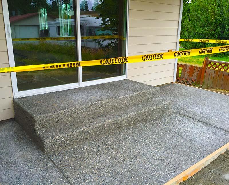 Monroe Custom Home Patio Construction