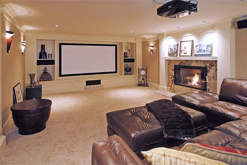 Woodway, Wa custom home entertainment room