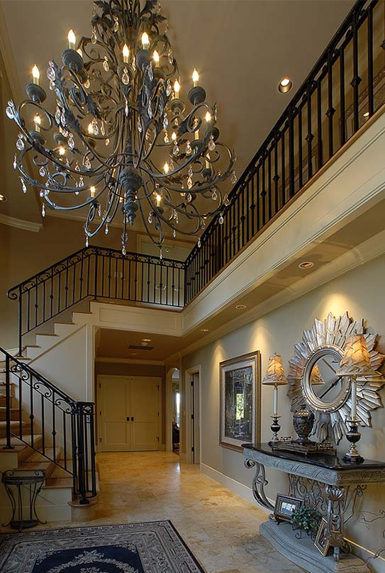Woodway, Wa custom home foyer