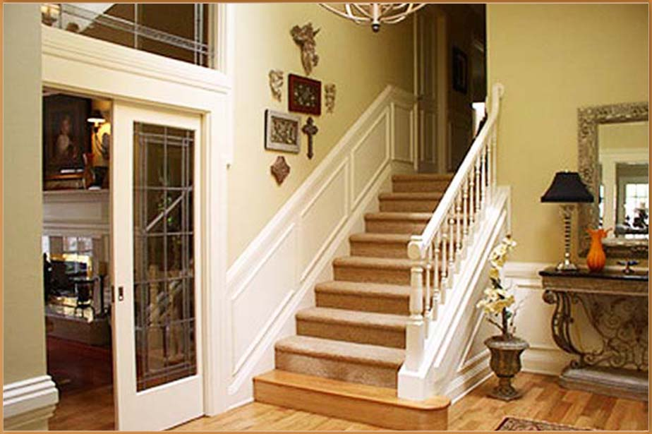 Woodway Custom Home Stairway Design and Construction - Seattle Water Damage Repair and Restoration - Town Construction and Development
