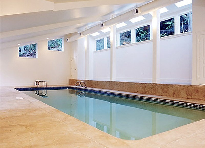 Seattle custom home indoor pool