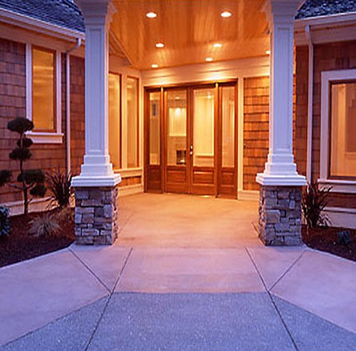 Woodway Wa. Custom home Entrance Way