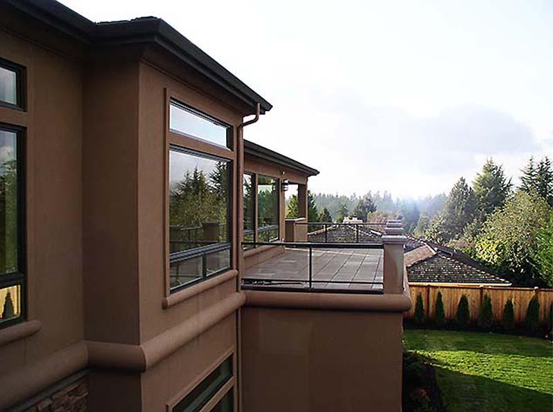 YARROW POINT custom home patio and custom deck