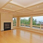 Kirkland custom home designed fireplace and living room